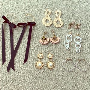 Stella dot and other earring lot